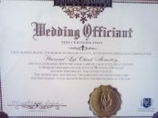 Wedding officiant cert
